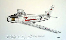 Canadair CL-13 Sabre RCAF F-86 Stocky Edwards Ace Signed Aviation Art