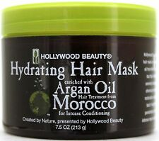HOLLYWOOD BEAUTY HYDRATING HAIR MASK ARGAN OIL INTENSE CONDITIONING 7.5 OZ.
