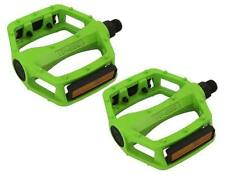 "BMX FIXIE PLATFORM PEDALS VP Green 9/16"" Alloy Pedals 9/16 with reflectors NEW"