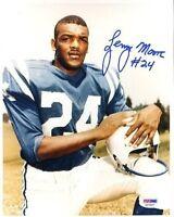 Lenny Moore Colts Hof Signed Psa/dna  8x10 Photo Autograph Authentic