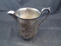 Antique Vintage Silverplated Silver on Copper Large Creamer Milk Pitcher Creamer