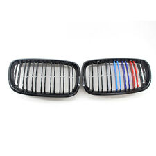 M for BMW E70 E71 Metal Look Gloss Black X5 X6 Front Grille Twin xDrive30i