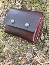 Leather belt pouch for 2 Altoids Tins,hiking camping backpack bushcraft survival