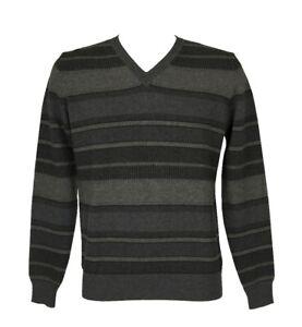 Maglia pullover uomo manica lunga scollo a V pura lana merino extrafine FERRANTE