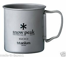 Snow Peak Mag 600 Titanium Single Wall Cup Camping Hiking Outdoor made in japan