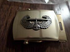 U.S MILITARY ARMY AIR ASSAULT INSIGNIA SOLID BRASS BELT BUCKLE MADE IN THE U.S.A