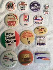 Vintage Federal Express Christmas ,Halloween, Mexico,Secretary,zap, Button Pin