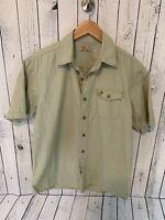 CARHARTT Men's Light Green Short Sleeve Button Front Shirt Size Medium  X1