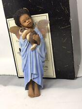 Mib Bunny Hug Thomas Blackshear Ebony Visions Xmas Ornament Angel #37156