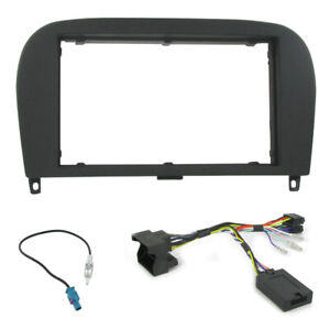Mercedes SL R230 Double Din Facia Panel Steering Controls Car Stereo Fitting Kit