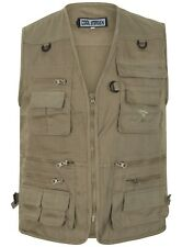 Multi Pocket Utility Vest Waistcoat Gilet Mens Fishing Hunting Shooting poacher