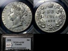 ELITE VARIETIES CANADA 50 cents - 1898 PCGS AU55 (a546)