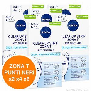 Clear-Up Strip Nivea Anti Punti Neri Zona T Cerotti Impurità Libera Pori Viso