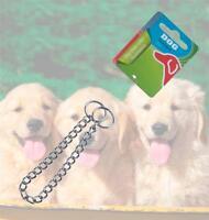 Chrome Dog Chain Collar Slip Choker Training Puppy Lead Obedience Pet Choke Link