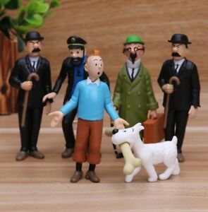 The Adventures Of Tintin Action 6x Figures Collectible Model Set 🇬🇧 Seller