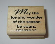 May the Joy and Wonder of the Season Be Yours Rubber Stamp RARE Stampin' Up! #2