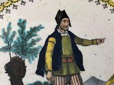 Muletier du Royaume de Jaen  Assiette XIX Creil Antigua Plato Espagne Spain