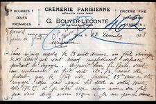 """DREUX (28) CREMERIE PARISIENNE PRODUITS JULIEN DAMOY """"G BOUYER-LECONTE"""" en 1923"""