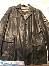 d26f4c23 Belstaff Black Biker Motorcycle Leather Jacket L Large