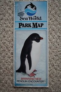 Sea World Orlando Park Map and Show Schedule from 1988