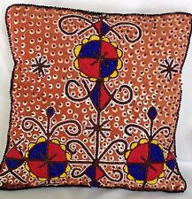 "Beaded Throw Pillow Cushion Cover Pillow Sham HANDMADE NEW 14"" Square"