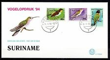 Suriname - 1994 Definitives birds overprinted -  Mi. 1472-74 clean FDC