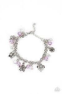 ~Retreat Into Romance~ Purple Charm Bracelet Paparazzi Jewelry