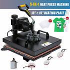 Professional 360 Swing Away Heat Press Machine 5-in-1 T Shirt Press 15x15 Inch