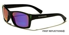 Biohazard Small Retro Sport Men Women Sunglasses Black Ice-Fire-Gold Mirror Lens