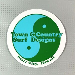 T&C Town & Country Surf Designs Hawaii Sticker 5 inches Cyan/Green sk8