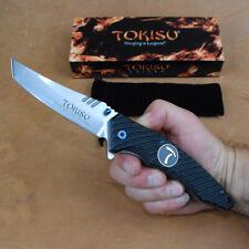 edles TOKISU Tanto SwingTaschenmesser Gürtelclip G10 Carbon kräftiges Messer