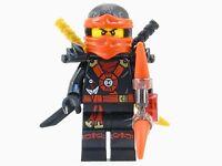 LEGO® Ninjago™ Deepstone Kai Ninja Minifigure Aeroblade Gold & Black Swords 2015