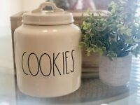 Rae Dunn - COOKIES - Ivory With Black LL Chubby Canister