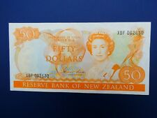 More details for scarce 1981-85 new zealand $50 (hardie) banknote original gvf