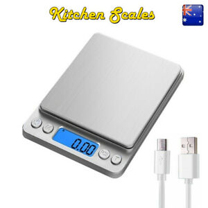 Kitchen Scales Digital LCD USB Electronic Balance Food Jewellery Weight Scale AU