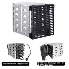"5-Bay 3.5""inch SATA Hard Drive Internal Enclosure Case Chassis Holder Cage"