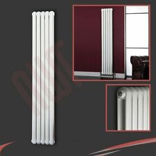 "318mm(w) x 1800mm(h) ""Elias"" White Multi-Column Vertical Radiator 4420BTUs"