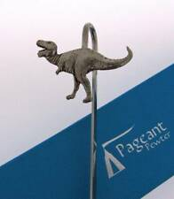 More details for tyrannosaurus rex silver pewter bookmark with gift box - perfect gift idea