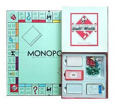 Monopoly Classic Quadratische DM Version Holzhäuser weißer Spielplan Brettspiel