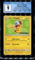 CGC 9 Ash's Pikachu SM112 English Black Star Movie Promo Pokemon Card PSA BGS