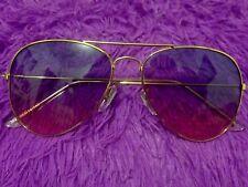 Purple Pink Black Aviator Sunglasses Grunge Goth Hippy Boho Summer + Case