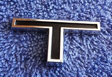 "NOS NEW RARE Original OEM 1968 Cougar XR7 or GT-E Fender ""T"" Ornament Emblem"