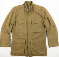 NICE Collective Field Jacket Chore Coat Military Tan Pockets Zips Ms S Made USA