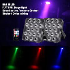 2PC RGB 17 LED Stage Lighting PAR Can Light Party Disco DJ Lights Club Uplighter