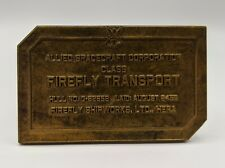 Loot Cargo Crate Exclusive Firefly Serenity Brass Bridge Dedication Plaque New