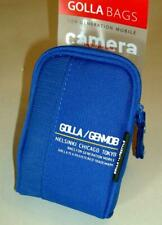 New Golla Universal Compact Digital Camera Case  Blue with carabiners clip. NEW