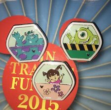 Disney Pin HKDL FUN Day FERRIS WHEEL Set Of 3 Monsters Inc Boo Mike Sulley Sully