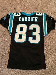 Authentic Game Worn Carolina Panthers Jersey Mark Carrier
