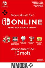 Nintendo Switch Online Abonnement 12 mois - 365 jours Compte français - FR & UE