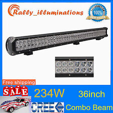 36inch 234W CREE LED LIGHT BAR WORK FLOOD SPOT COMBO OFFROAD 4WD DRIVING JEEP US